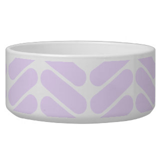 Pastel Purple Zigzag Pattern inspired by Knitting. Bowl