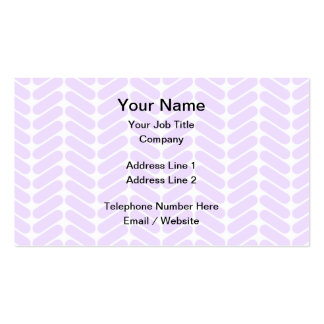 Pastel Purple Zigzag Pattern inspired by Knitting. Business Card