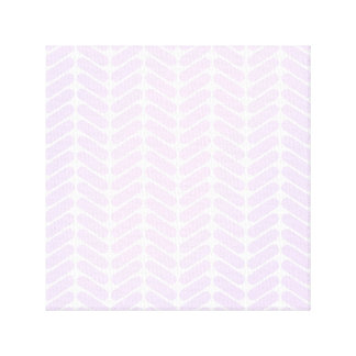 Pastel Purple Zigzag Pattern inspired by Knitting Gallery Wrapped Canvas