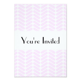 Pastel Purple Zigzag Pattern inspired by Knitting. Card