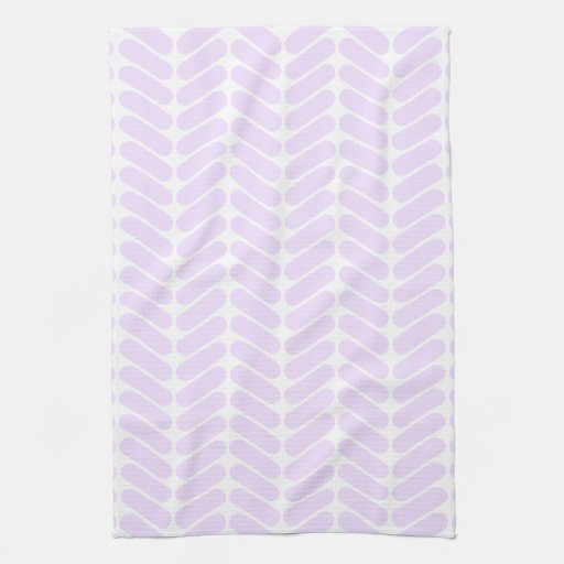 Pastel Purple Zigzag Pattern inspired by Knitting. Kitchen Towels