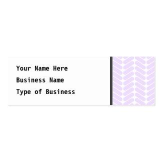 Pastel Purple Zigzag Pattern inspired by Knitting. Mini Business Card