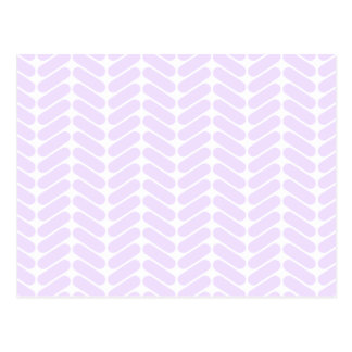 Pastel Purple Zigzag Pattern inspired by Knitting. Postcard