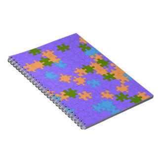 Pastel Puzzle Binder Spiral Notebook