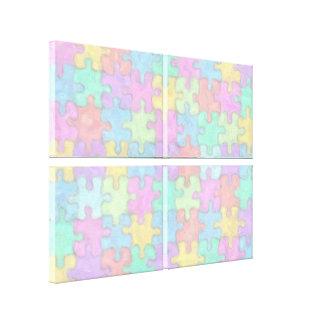 Pastel Puzzle Canvas Print