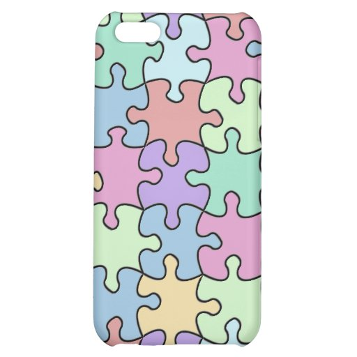 Pastel Puzzle Cover For iPhone 5C