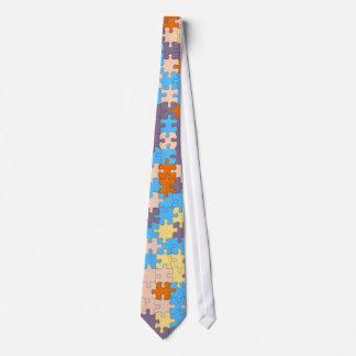 Pastel Puzzle Tie