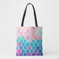 Pastel Quatrefoil Pattern Tote Bag