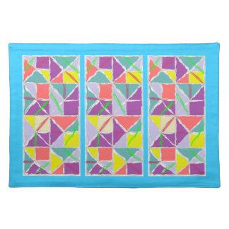Pastel quilt patterned place mat