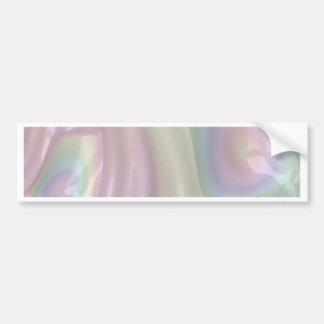 Pastel rainbow 3D abstract art Bumper Sticker