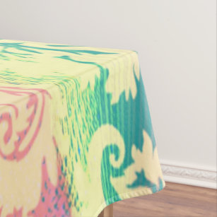Pastel Rainbow Abstract Art Cool Tablecloth