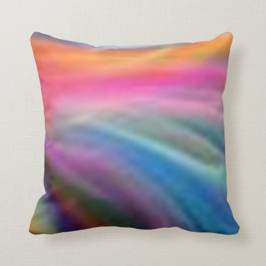 Pastel Rainbow Accent Pilllow Throw Pillow