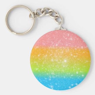 Pastel Rainbow Astral Glitter Key Chain
