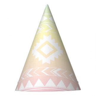 Pastel Rainbow Aztec Design Party Hat