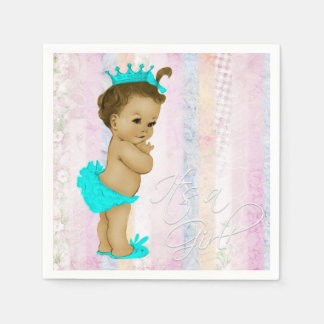 Pastel Rainbow Baby Shower Disposable Napkin