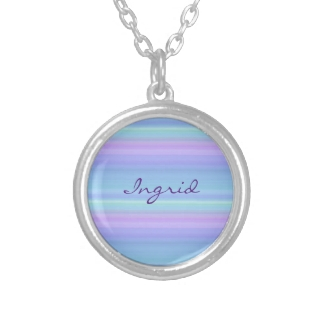 Pastel Rainbow Blue Purple Green Necklace