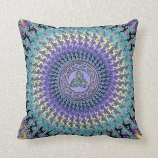 Pastel Rainbow Braided Swirl With Celtic Trinity Pillow