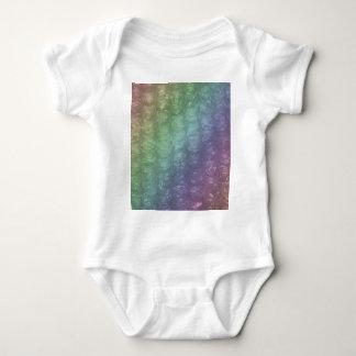 Pastel Rainbow Bubble Wrap Effect Baby Bodysuit