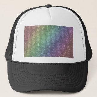 Pastel Rainbow Bubble Wrap Effect Trucker Hat