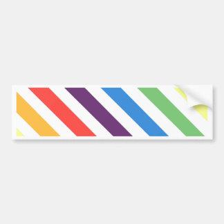 Pastel Rainbow Bumper Sticker
