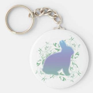 Pastel Rainbow Bunny & Swirls Keychains