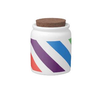 Pastel Rainbow Candy Jars