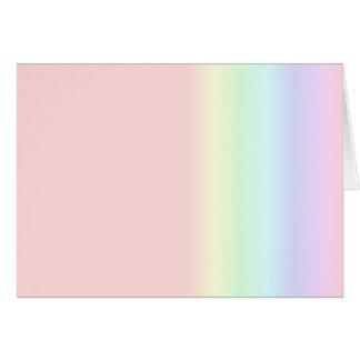 Pastel Rainbow Greeting Card