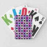 Pastel Rainbow Cat Pattern Bicycle Playing Cards