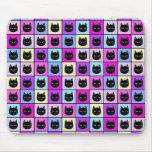 Pastel Rainbow Cat Pattern Mouse Pads