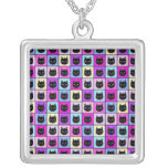 Pastel Rainbow Cat Pattern Necklaces