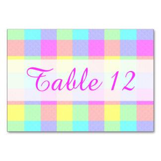 Pastel Rainbow Checkered Springtime Pretty Card