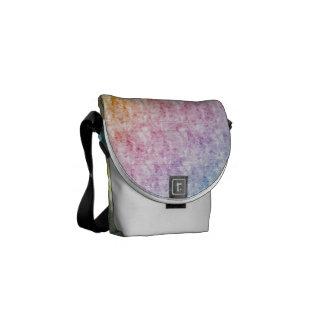 Pastel Rainbow Color Diagonal Stripes Travel Bag