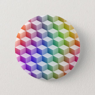 Pastel Rainbow Colored Shaded 3D Look Cubes Button