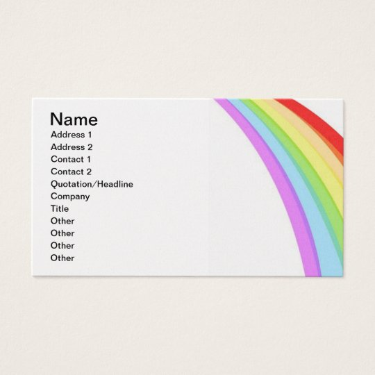 PASTEL RAINBOW COLORS CUTE CARTOON BACKGROUNDS BUSINESS CARD