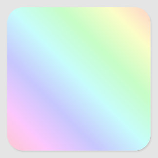 Pastel Rainbow Coloured Stripes Square Sticker