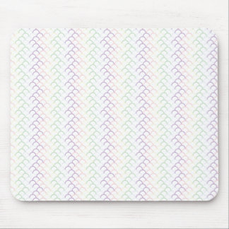 Pastel Rainbow Dragon Scales Mouse Pad