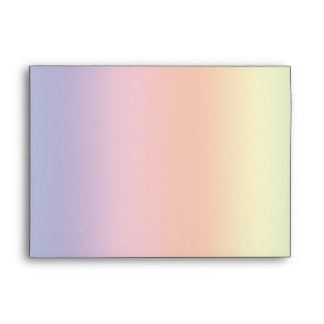 Pastel Rainbow Envelopes
