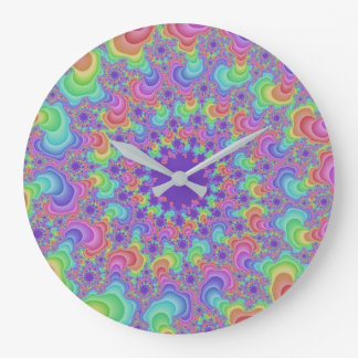 Pastel Rainbow Eye Large Round Wall Clock