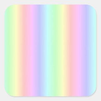 Pastel rainbow Fantasy kind - kind Deco Square Sticker