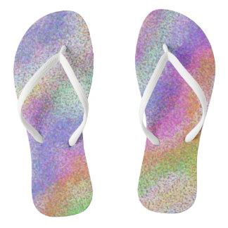 Pastel Rainbow Flip Flops