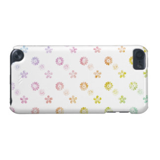 Pastel Rainbow Floral Striped White Case
