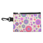 Pastel Rainbow Flower Pattern Accessory Bags