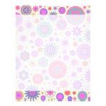 Pastel Rainbow Flower Pattern Letterhead