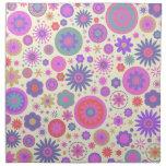Pastel Rainbow Flower Pattern Printed Napkins