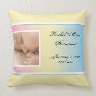 Pastel Rainbow Frame Baby Keepsake Pillow