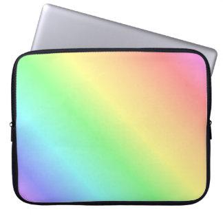 Pastel Rainbow Gradient Diagonal Laptop Sleeve