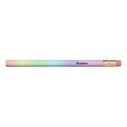 Pastel Rainbow Gradient Pencil