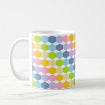 Pastel Rainbow Hexagons Coffee Mug