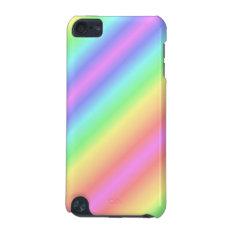 Pastel Rainbow I-pod Case at Zazzle
