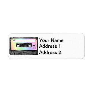 Pastel Rainbow Label Cassette
